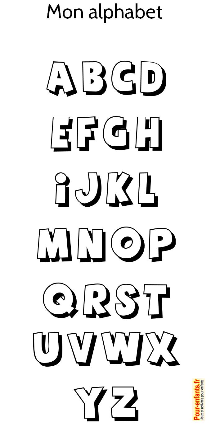 Coloriage lettre alphabet pois - Lettres a colorier ...