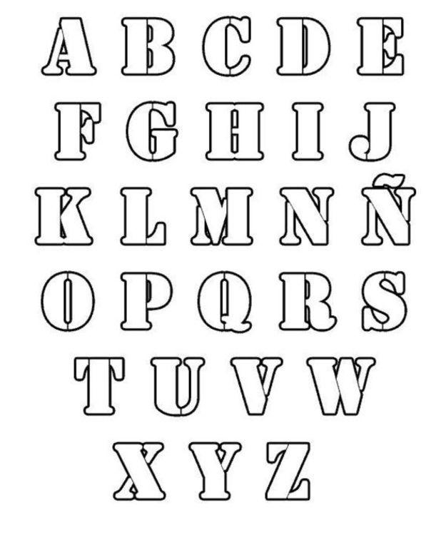 Coloriage dessiner alphabet majuscule a imprimer - Alphabet majuscule a imprimer ...