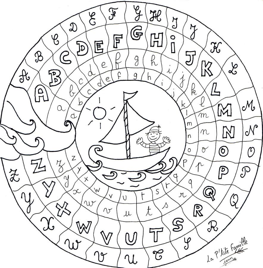 Coloriage Alphabet Fleur.Coloriage A Dessiner Alphabet Fleurs