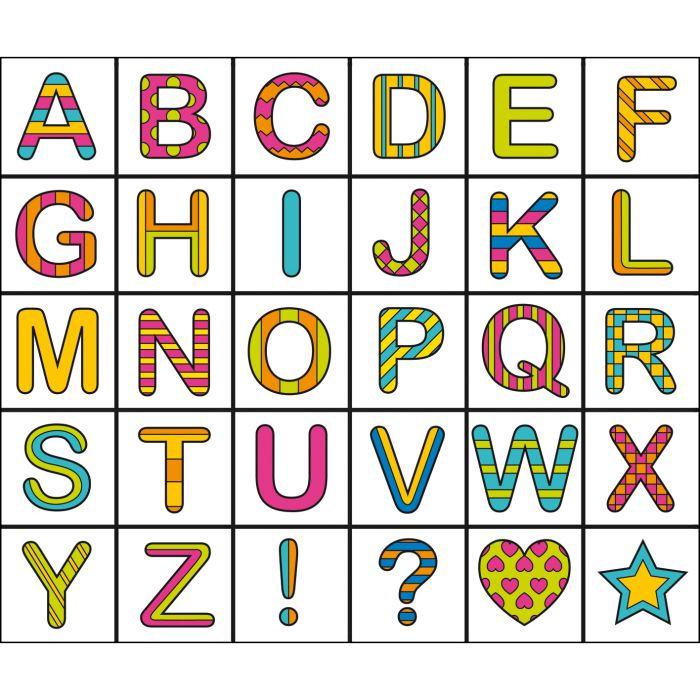 Coloriage alphabet cursif - L alphabet en francais a imprimer ...