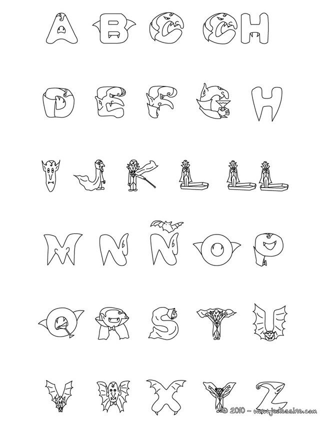 Dessin alphabet alphas - Alphabet dessin ...