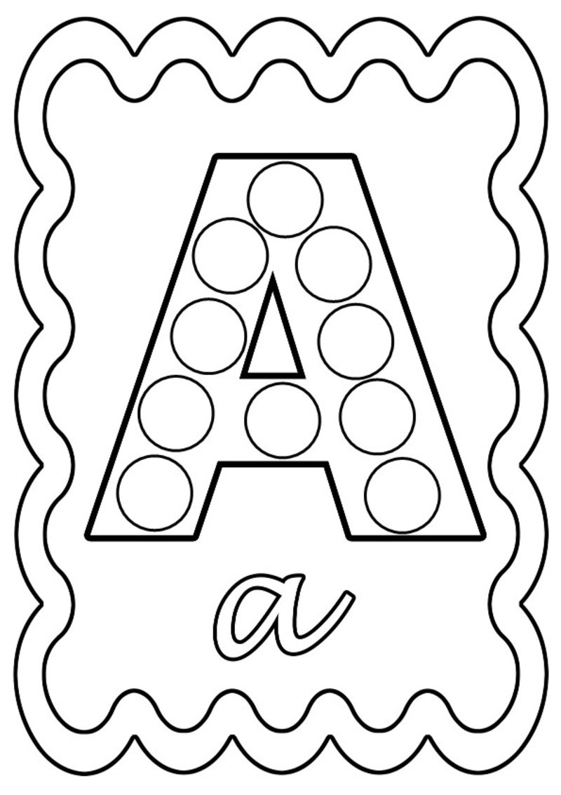Coloriage alphabet a pois - Coloriage alphabet animaux ...
