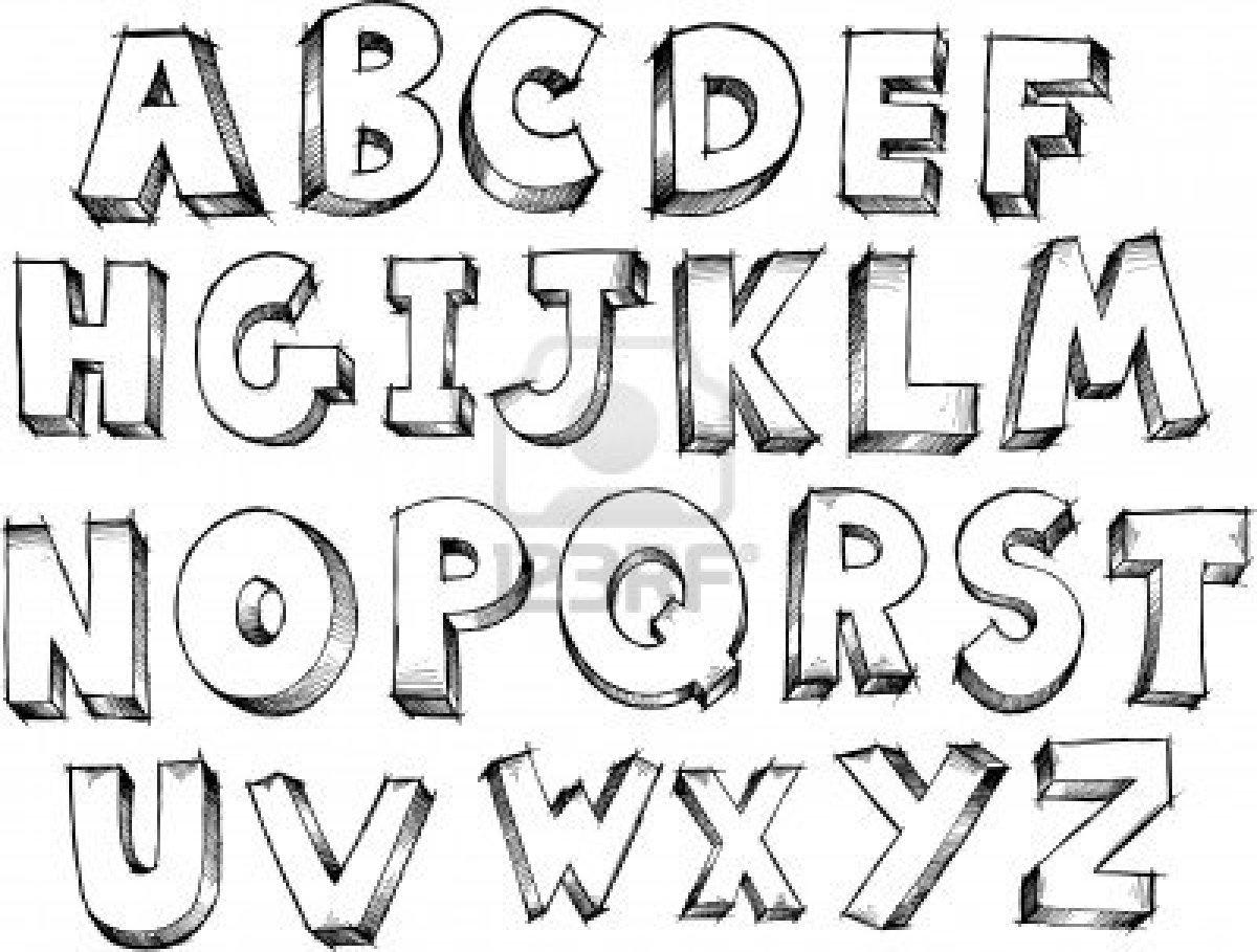Lettre De L Alphabet Coloriage A Dessiner