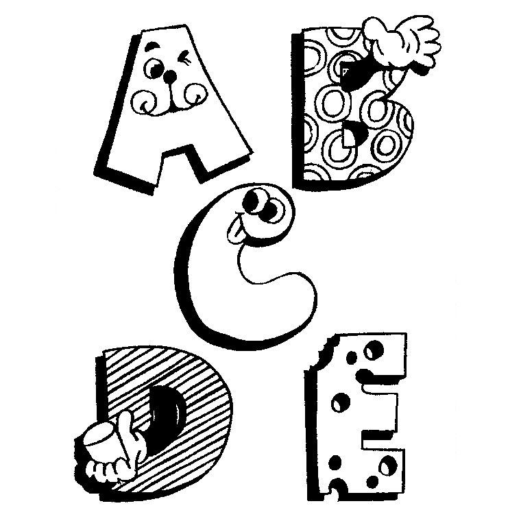 dessin alphabet yeux