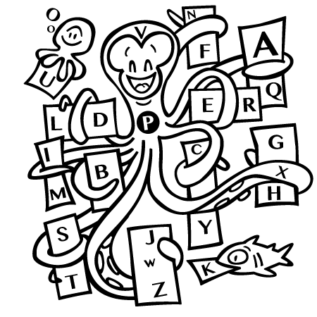 Coloriage dessiner alphabet majuscule a imprimer - Dessiner l alphabet ...