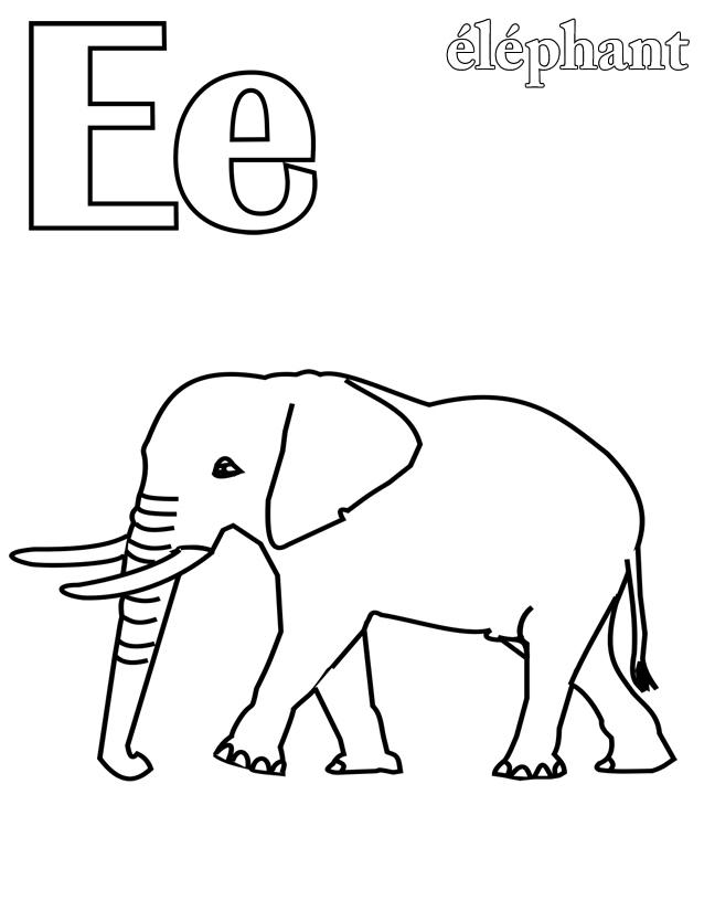 coloriage à dessiner alphabet animaux imprimer