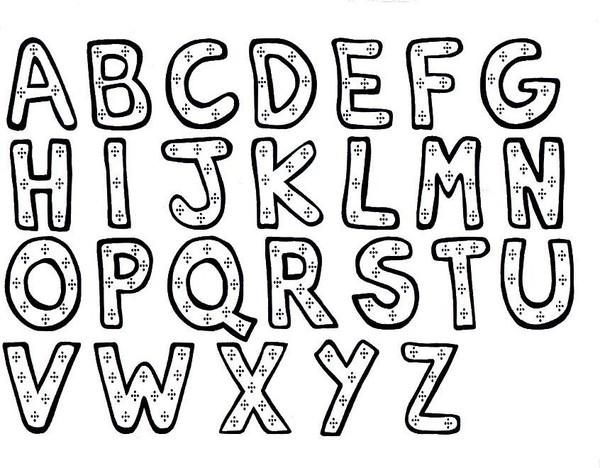 Coloriage alphabet alphas - Dessin lettres alphabet ...