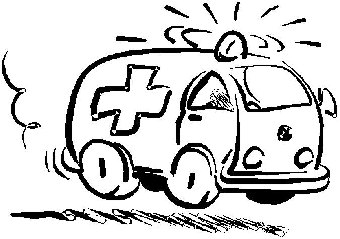 dessin à colorier d'ambulance