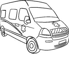 Coloriage ã Dessiner Ambulance A Imprimer