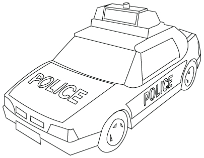 dessin à colorier ambulance samu