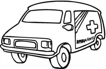 dessin camion ambulance