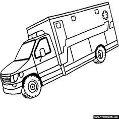dessin a imprimer gratuit ambulance