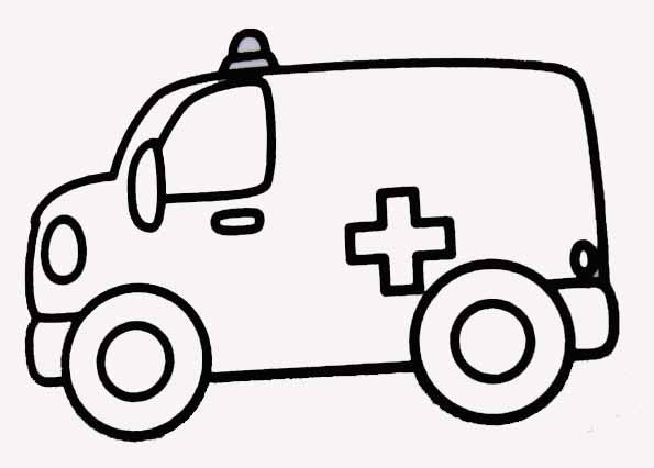dessin à colorier de ambulance