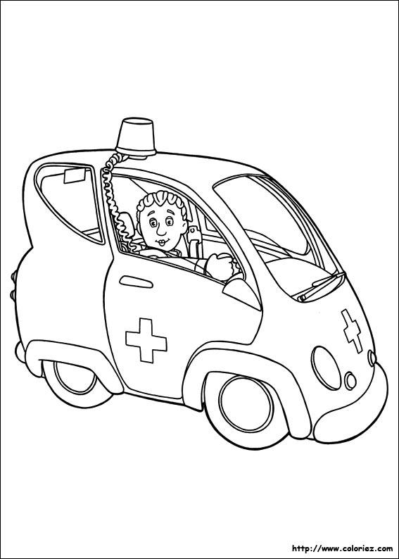 coloriage d'ambulance en ligne