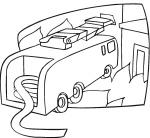 coloriage à dessiner voiture ambulance