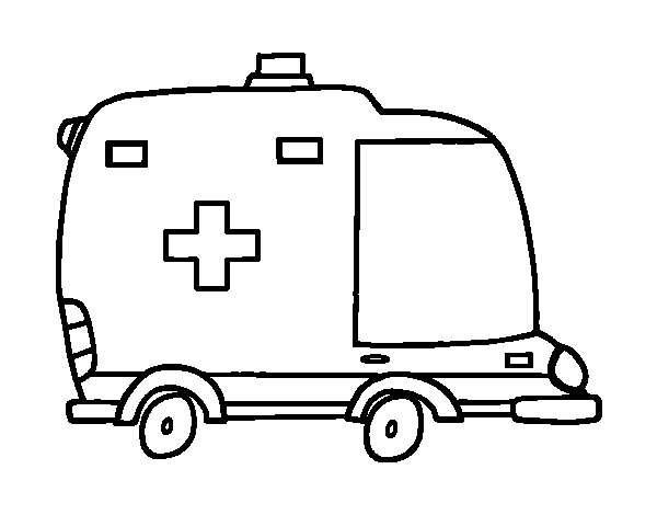 Coloriage dessiner ambulance a imprimer - Dessin ambulance ...