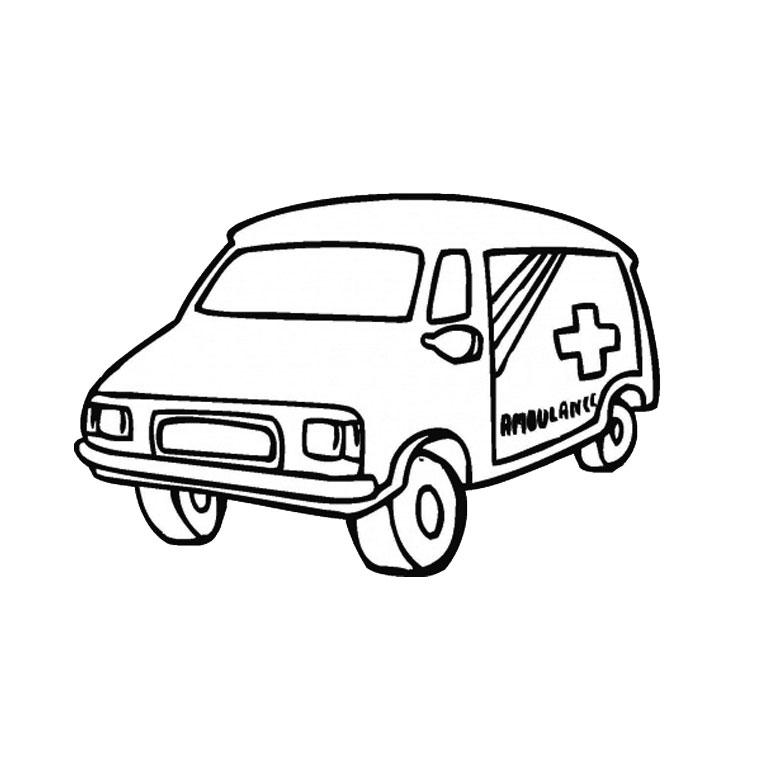 coloriage ambulance a imprimer