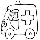 coloriage camion ambulance a imprimer