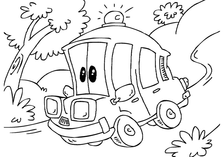 113 Dessins De Coloriage Ambulance 224 Imprimer