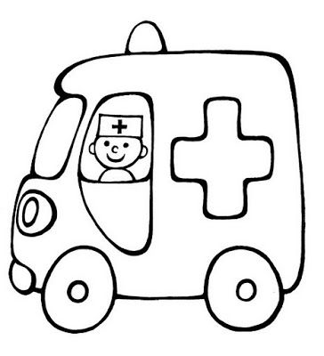 Coloriage dessiner ambulance pompier - Dessin ambulance ...