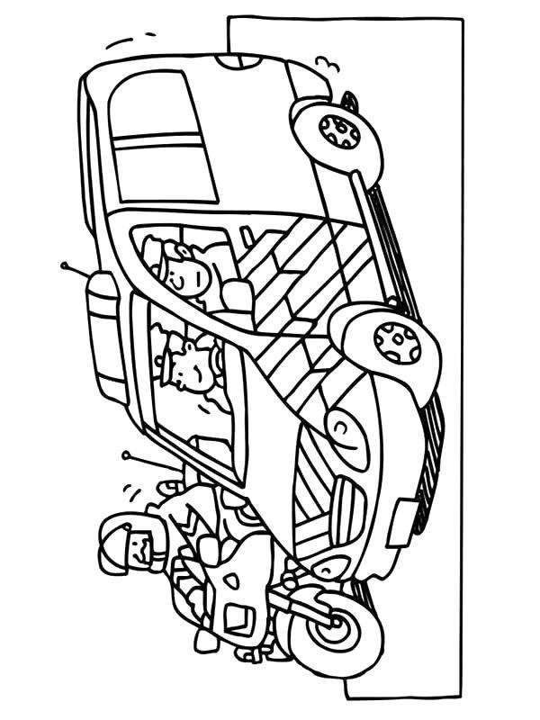 coloriage à dessiner a imprimer gratuit ambulance