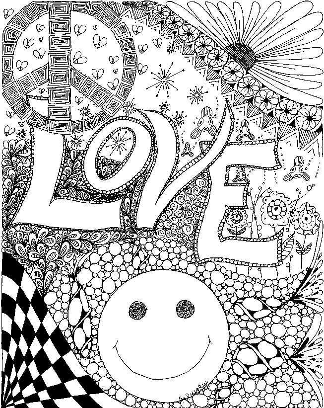 dessin � colorier coeur amour gratuit