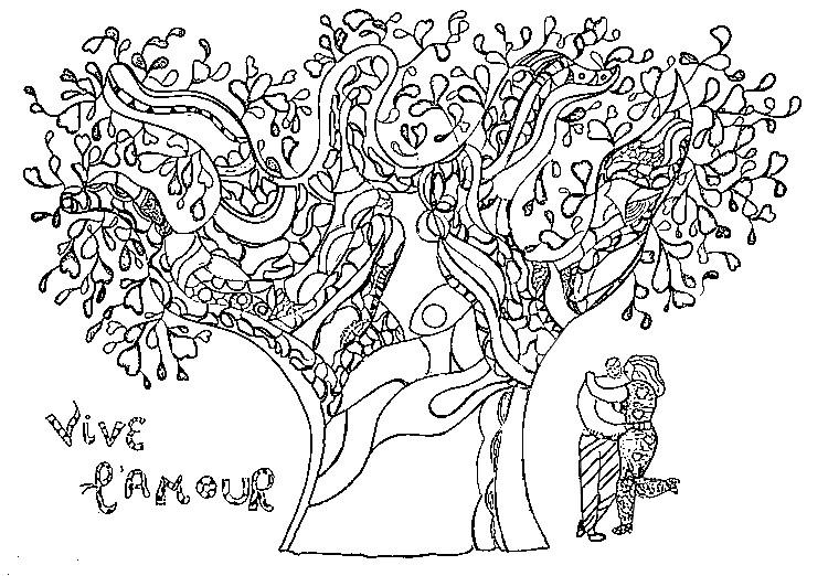 dessin amour a imprimer gratuit