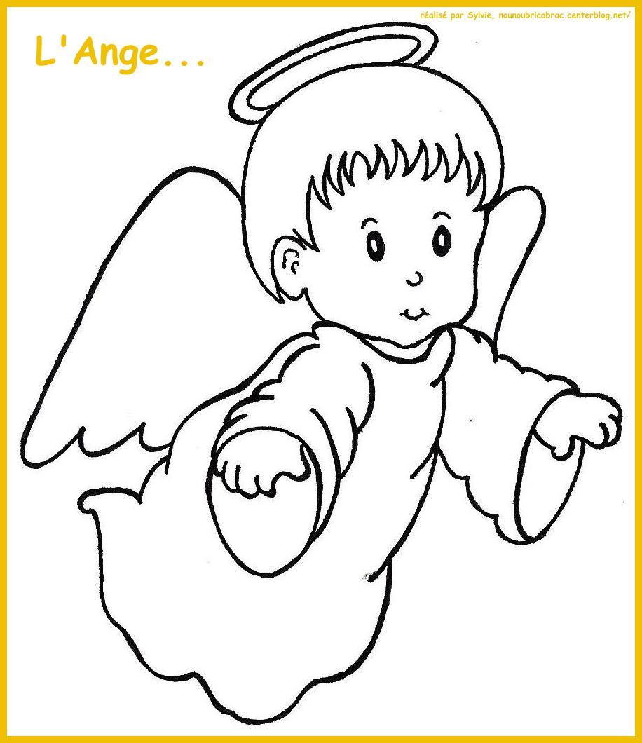 coloriage ange gabriel et marie