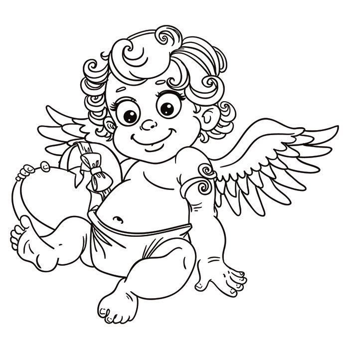 dessin à colorier ange gardien a imprimer