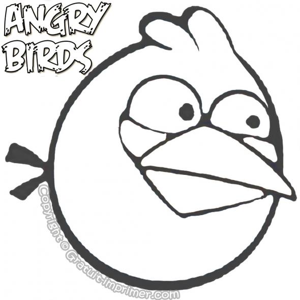 dessin à colorier angry birds gratuit a imprimer
