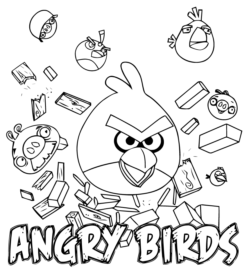 coloriage angry birds a imprimer gratuit