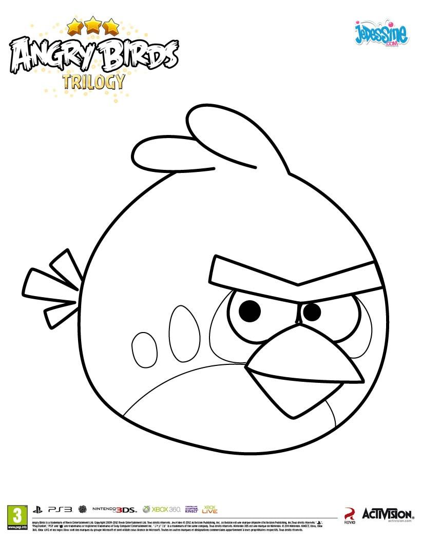 coloriage à dessiner à imprimer angry birds espace