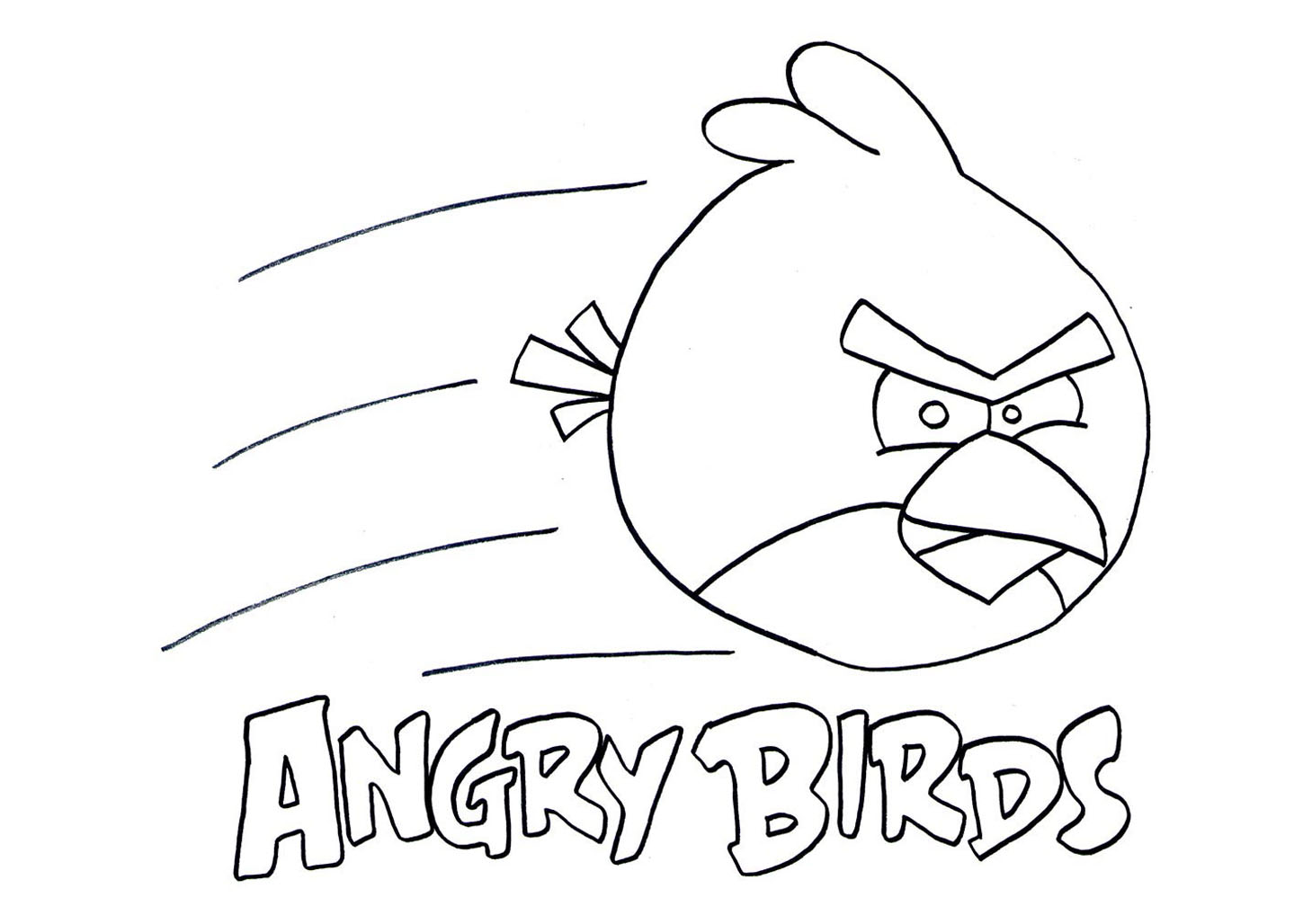 Dessin angry birds imprimer gratuit - Dessin a colorier angry bird ...