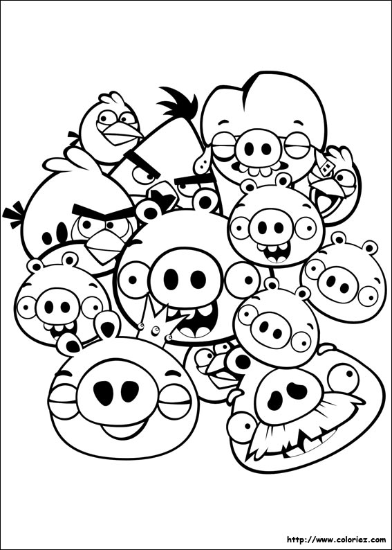 coloriage � imprimer gratuit angry birds star wars