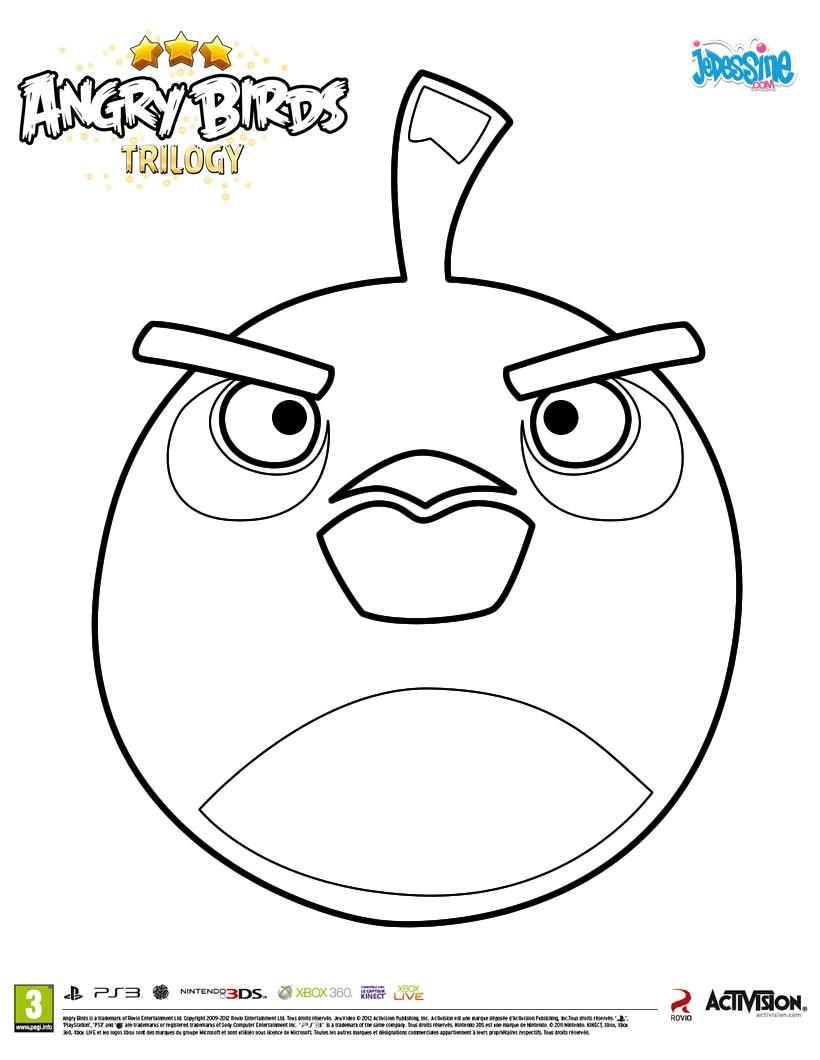 dessin à colorier angry birds star wars 2 à imprimer