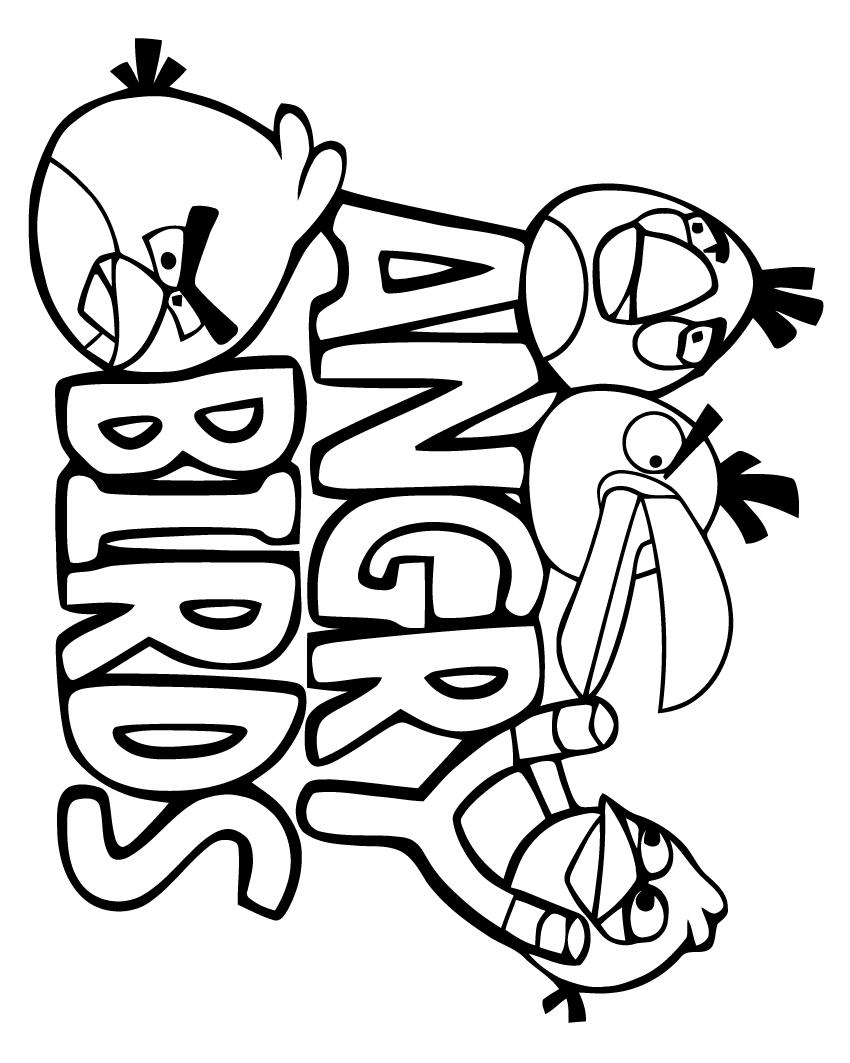 angry birds coloriage à dessiner à imprimer