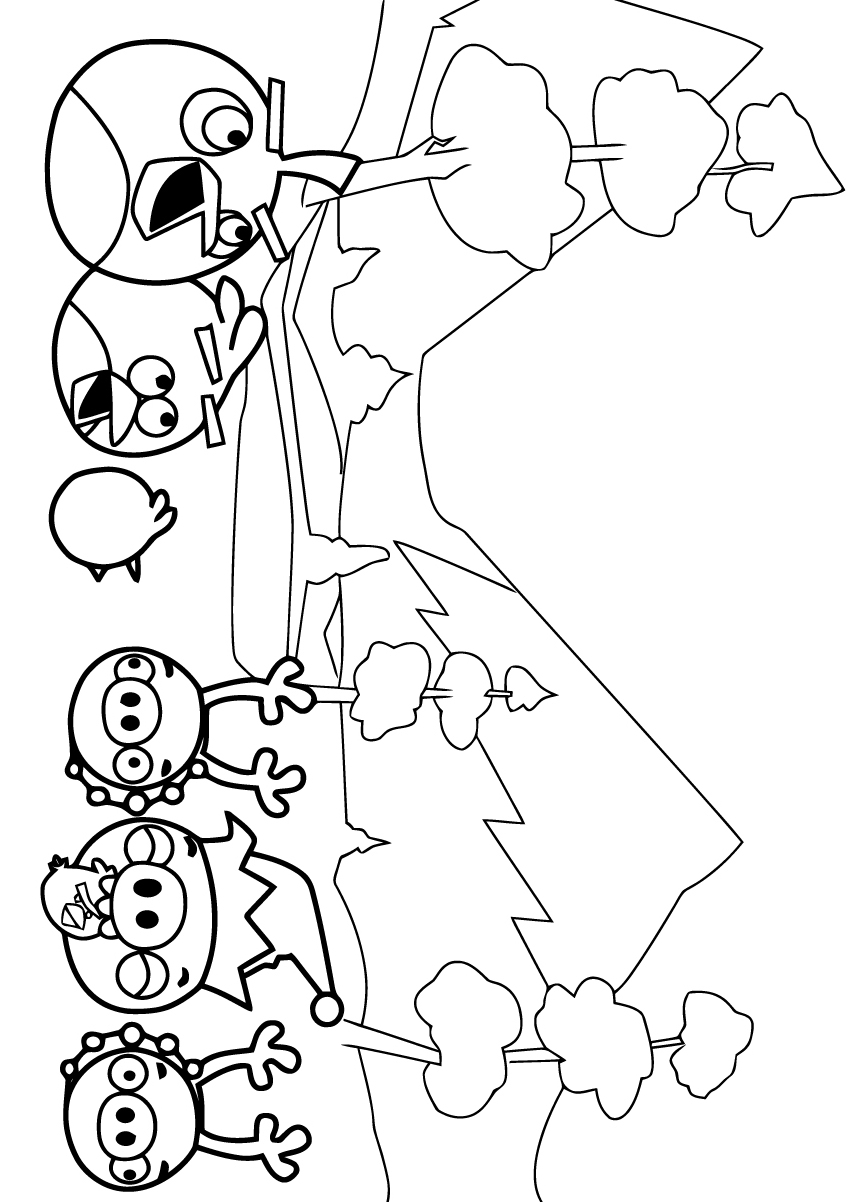 coloriage à dessiner angry birds gratuit a imprimer