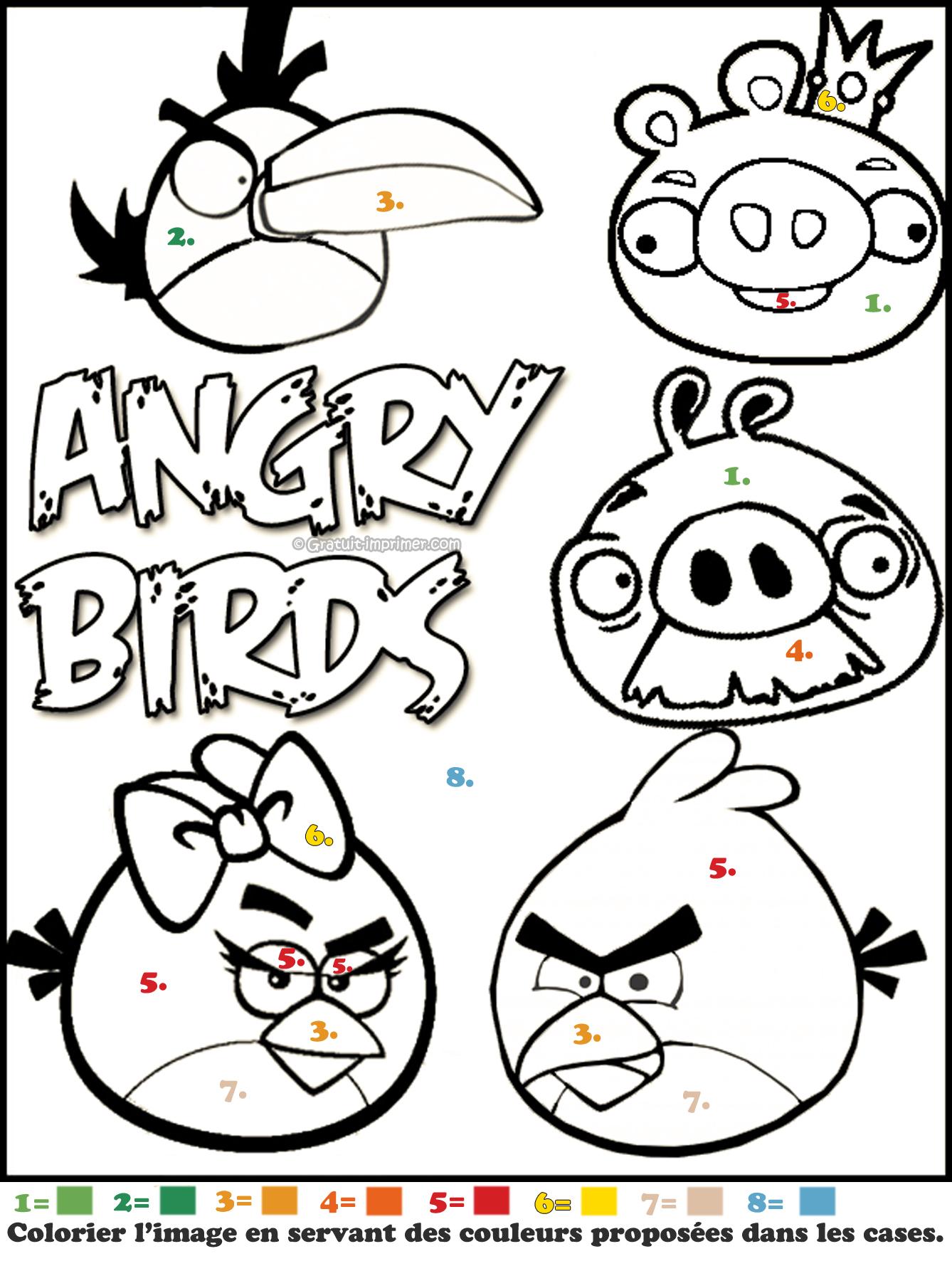 dessin angry birds à imprimer gratuit