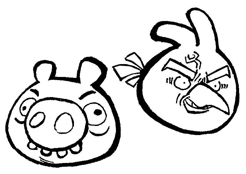 dessin à colorier angry birds online