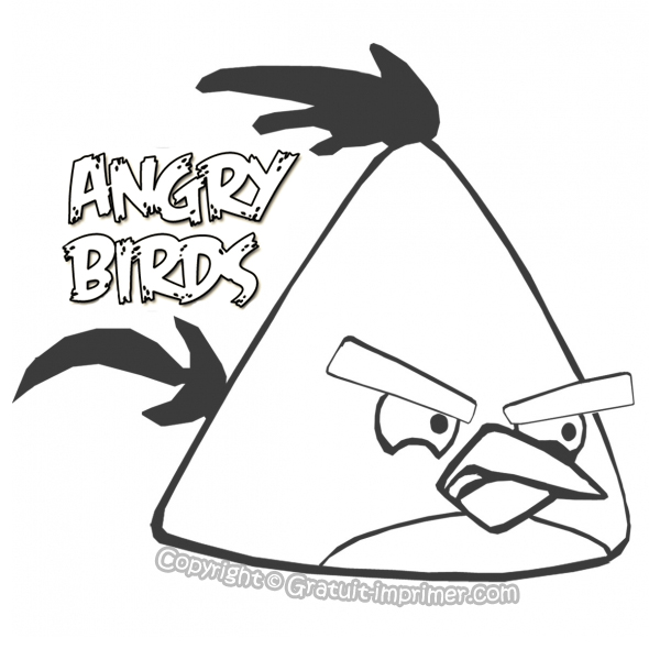 Coloriage angry birds en ligne - Dessin a colorier angry bird ...