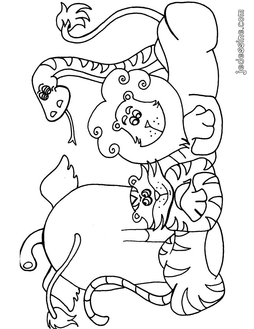 95 dessins de coloriage animaux d 39 afrique imprimer - Animaux d afrique coloriage ...