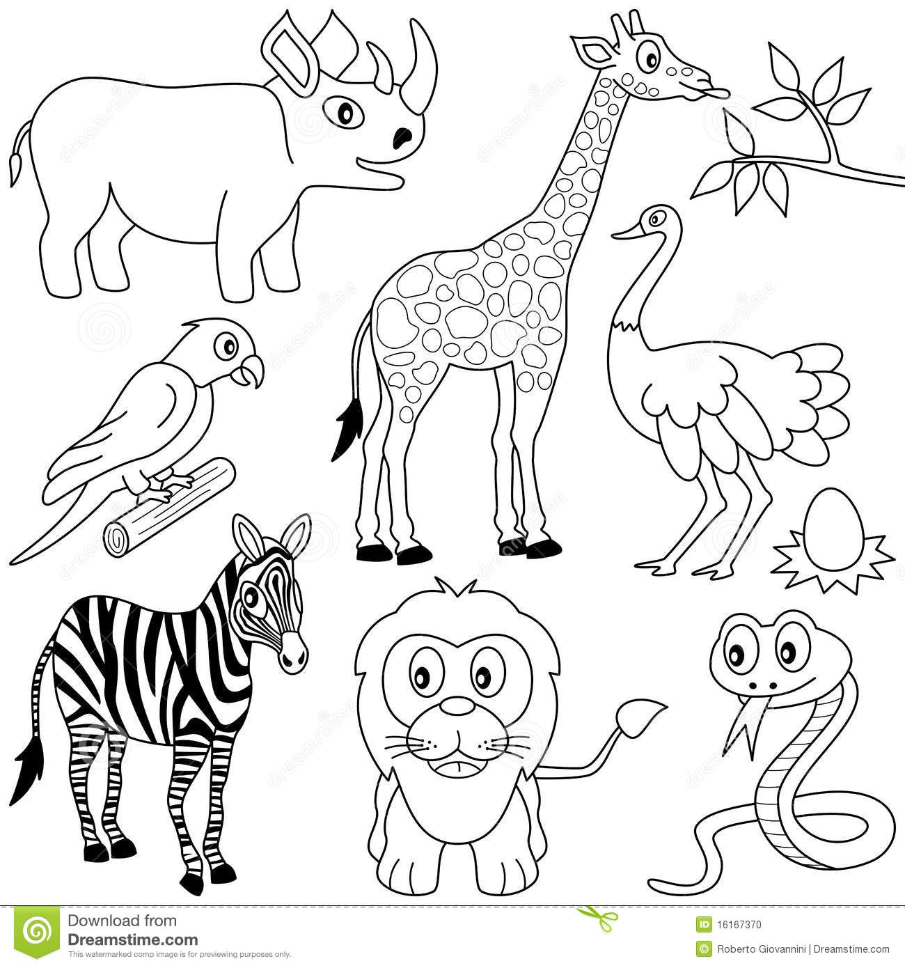 coloring pages for african animals - photo#7