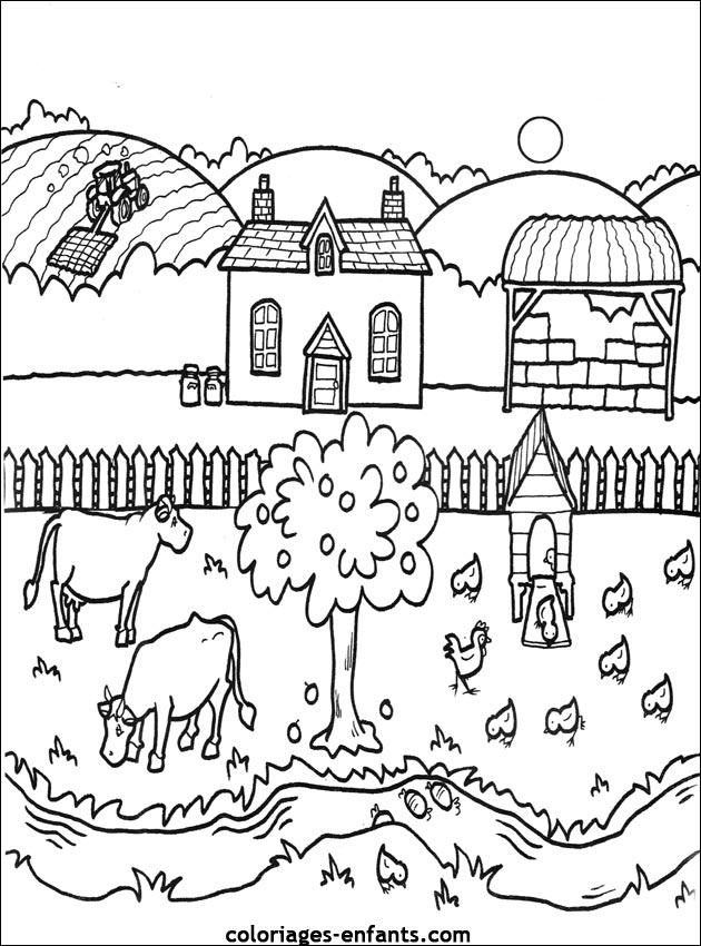 98 dessins de coloriage animaux de la ferme imprimer gratuit imprimer - Dessin de ferme ...