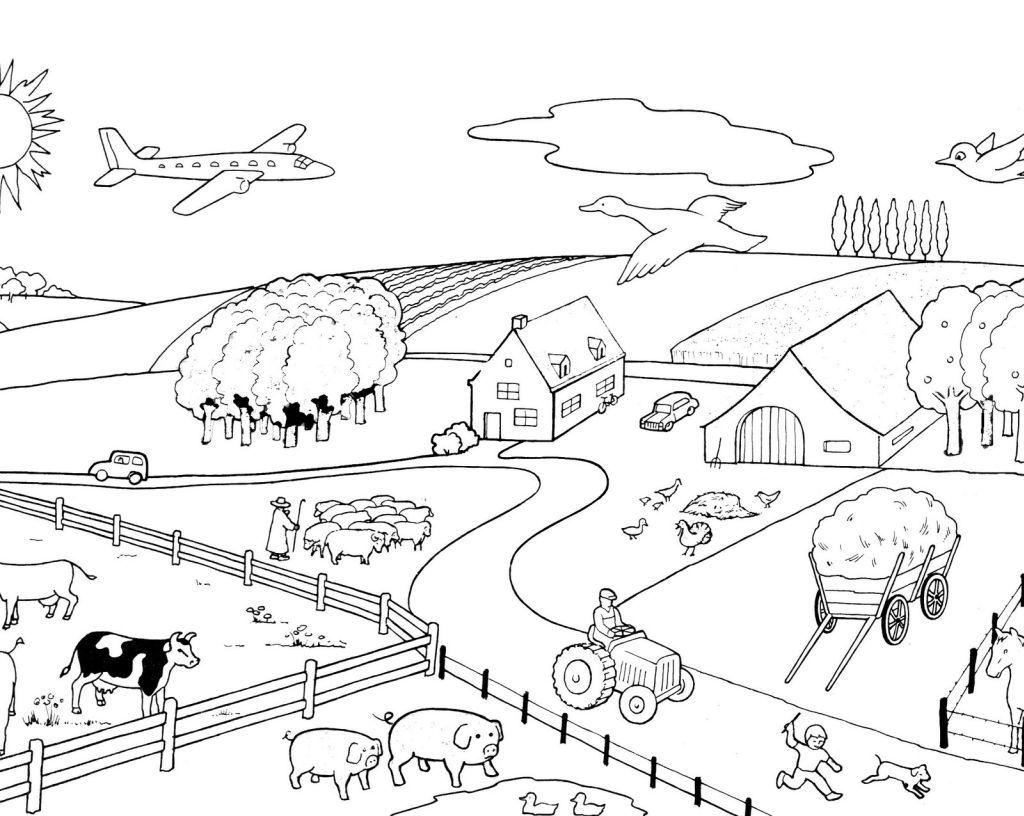 dessin animaux de la ferme gratuit