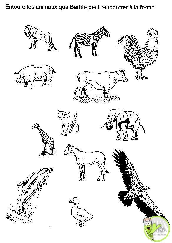 dessin à colorier animaux de la ferme imprimer