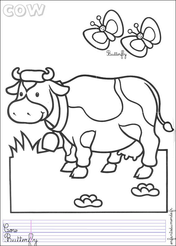 Dessin des animaux de la ferme - Coloriage ferme ...