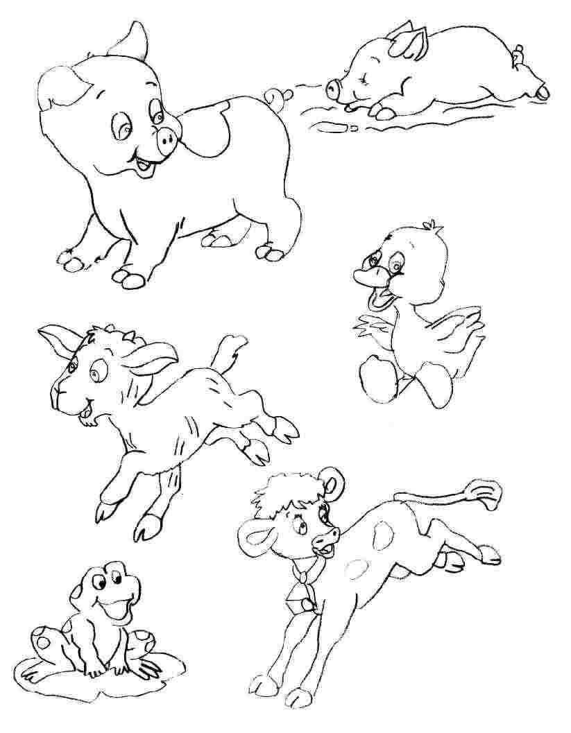dessin à colorier magique animaux de la ferme à imprimer