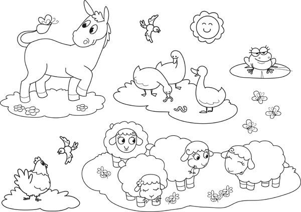 image coloriage animaux de la ferme