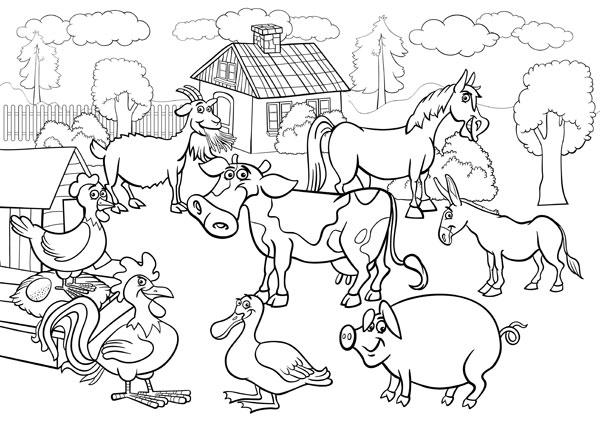 dessin animaux de la ferme en ligne