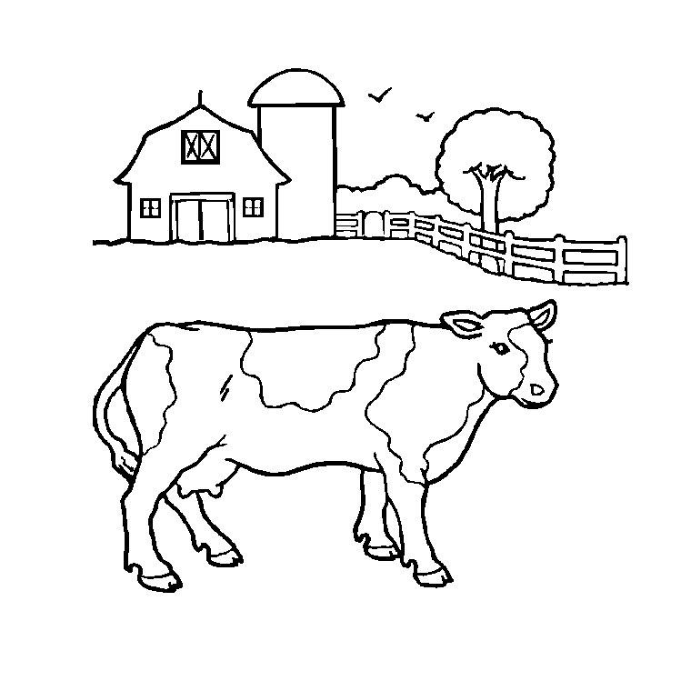 coloriage à dessiner de tout les animaux de la ferme